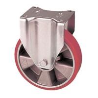 Ruote con nucleo in alluminio e rivestimento in poliuretano con supporto pesante fisso